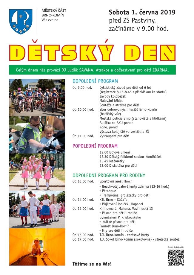 9f2127504 Den dětí 1. 6. 2019 09:00 – 1. 6. 2019 14:00 – Městská část Brno Komín